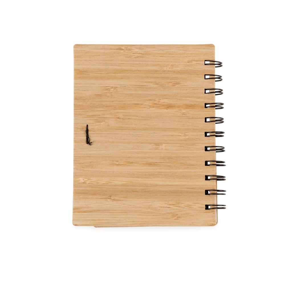 Bloco de Anotações Bambu com Caneta  13775 - Linha Ecológica - Gráfica e Brindes Ipê - Patos de Minas - MG