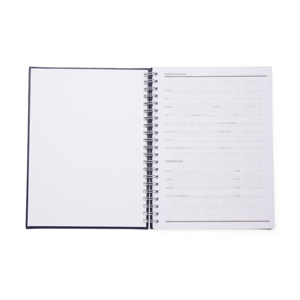 Caderno de Couro Sintético  13603 - Blocos e Cadernetas - Gráfica e Brindes Ipê - Patos de Minas - MG