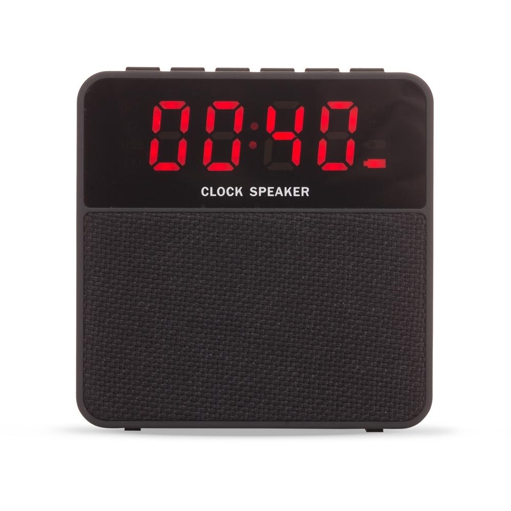 Caixa de Som Bluetooth com Relógio Digital 2071 - Brindes - Gráfica e Brindes Ipê - Patos de Minas - MG