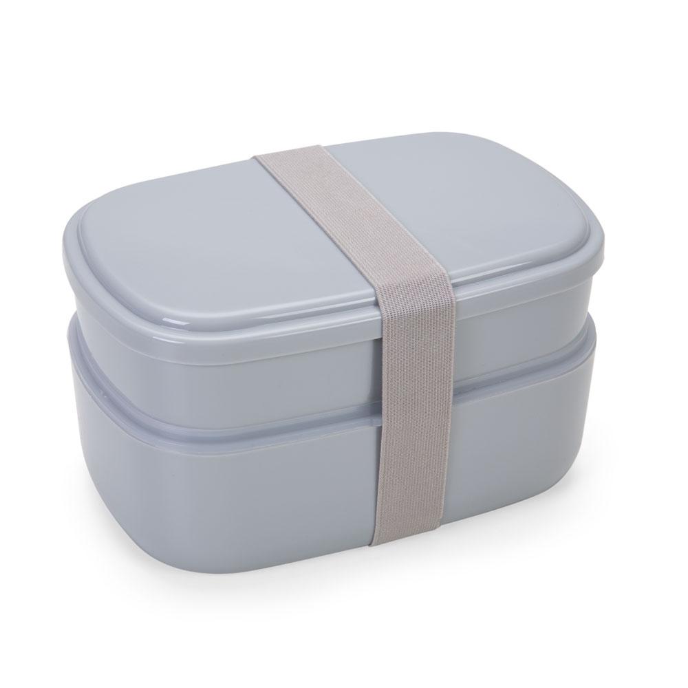 Marmita Plástica 2 Compartimentos + Talheres 13944 - Cozinha - Gráfica e Brindes Ipê - Patos de Minas - MG