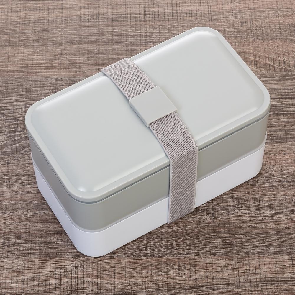 Marmita Plástica de 2 Compartilhamentos e Talheres 13564 - Cozinha - Gráfica e Brindes Ipê - Patos de Minas - MG