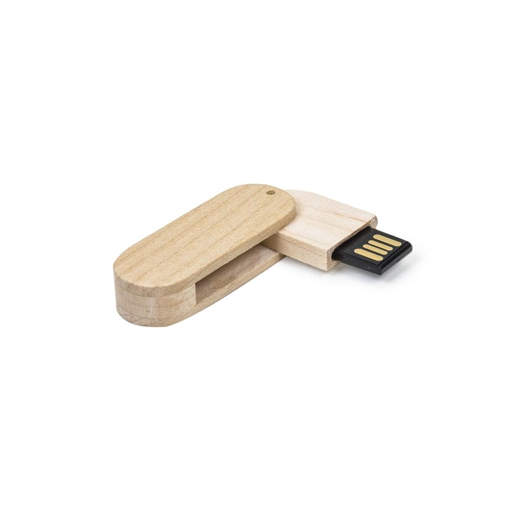 Pen Drive 4GB Bambu Giratório  033-4GB - Pen Drives - Gráfica e Brindes Ipê - Patos de Minas - MG