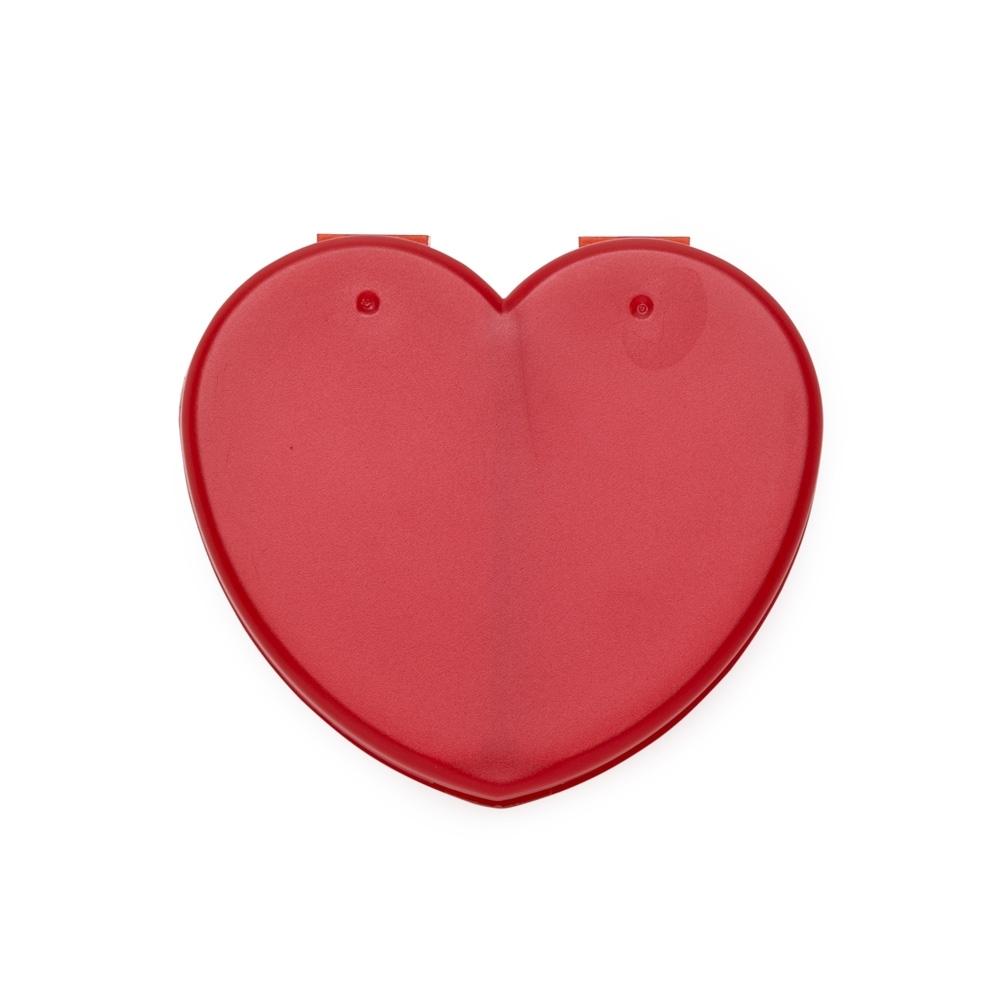 Porta Comprimido Plástico de Coração  13733 - Cuidados Pessoais - Gráfica e Brindes Ipê - Patos de Minas - MG
