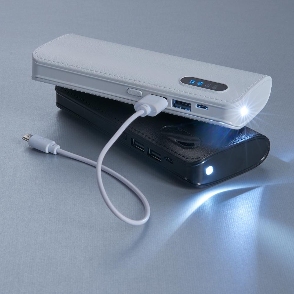 Power Bank Plástico com Níveis  2041 - Carregadores Power Bank - Gráfica e Brindes Ipê - Patos de Minas - MG